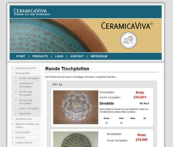 Website CeramicaViva