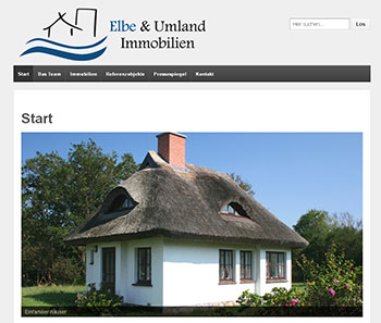 Website Elbe und Umland - Immobilien