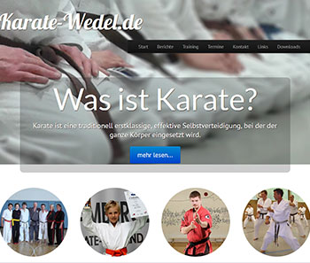 Website Karate-Wedel.de
