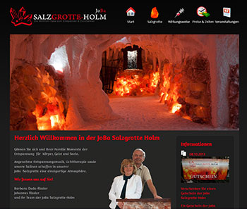 Website Salzgrotte-Holm.de